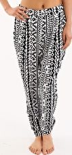 Seafolly, 1295[^]253497 Kasbah Pixi Pant - Black and White