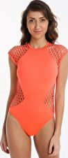 Seafolly, 1295[^]267680 Mesh About Surf Maillot - Nectarine