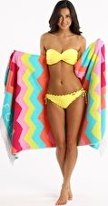 Seafolly, 1295[^]235883 Soundwave Ziggy Towel - Seychelles