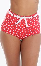 Seafolly, 1295[^]276708 Spot On High Waisted Pant - Chilli Red