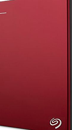 Seagate STDR2000203 Backup Plus Slim 2TB USB 3.0 portable 2.5 inch external hard drive - Red product image