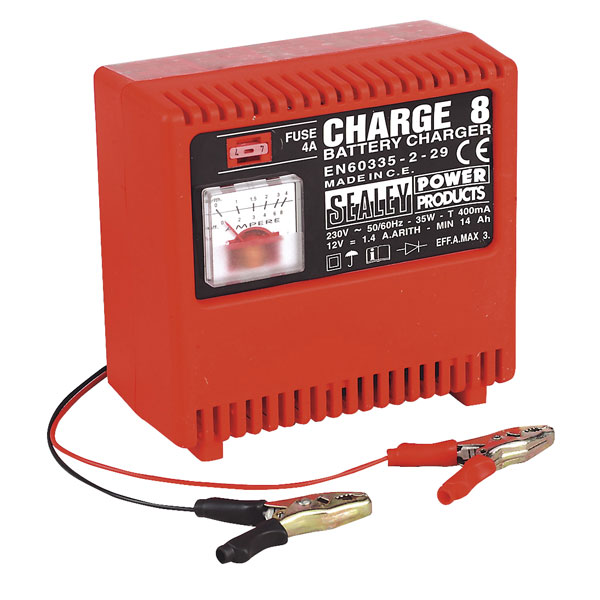 Sealey Battery Charger 12v 230v CHARGE8