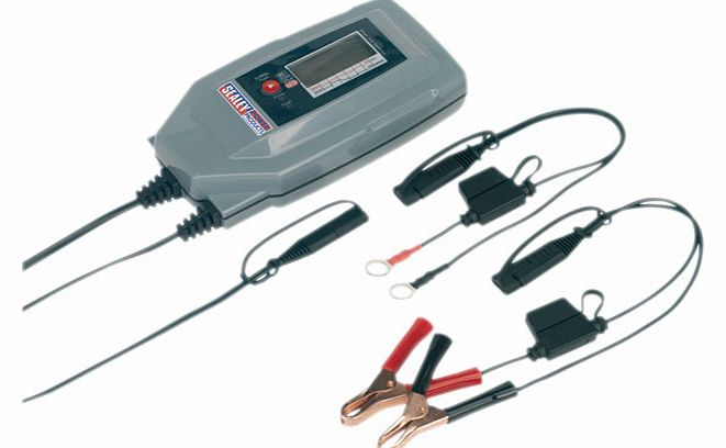 Sealey Compact Auto Digital Battery Charger - 7-cycle
