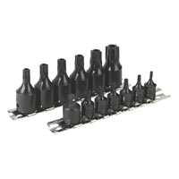 Sealey Impact TRX-Star Security Socket Set 13pc 1/4andquot and 3/8andquotSq Drive product image