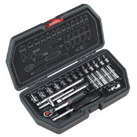 Sealey Socket Set 24pc 1/4andquotSq Drive Metric product image