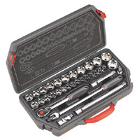 Sealey Socket Set 33pc 1/2andquotSq Drive Metric product image