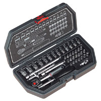 Sealey Socket Set 40pc 1/4andquotSq Drive Metric product image