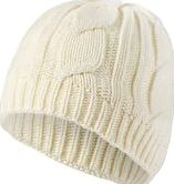 SealSkinz, 1296[^]232310 Womens Waterproof Cable Knit Beanie Hat - Cream