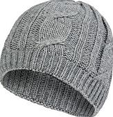 SealSkinz, 1296[^]232312 Womens Waterproof Cable Knit Beanie Hat - Grey