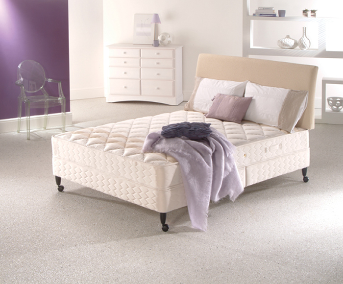 Sealy beds bonanza 17cm on legs 4ft 6 double divan bed for 4ft 6 divan bed