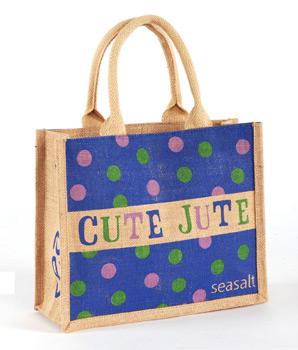Seasalt spotty cute jute bag