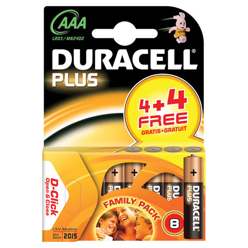 Duracell AAA Battery Pack of 8