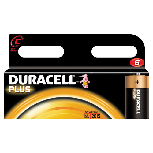 Duracell C Battery Pack of 6