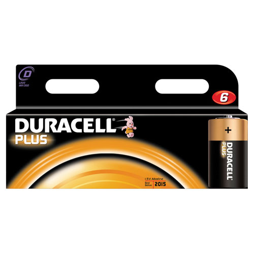 Duracell D Battery Pack of 6