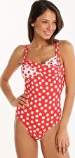 Seaspray, 1295[^]254095 Polka Dots Long Length Medium Control One Piece