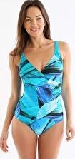 Seaspray, 1294[^]236646 Seychelles Long Length Crossover One Piece - Blue