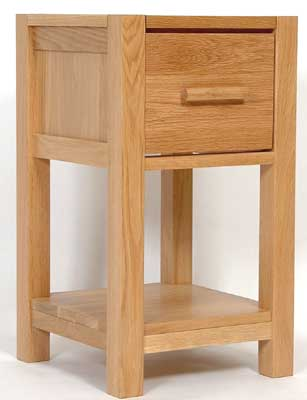 seattle LIGHT OAK BEDSIDE CABINET 1 DRAWER NARROW product image