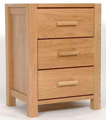 seattle LIGHT OAK BEDSIDE CABINET 3 DRAWER product image