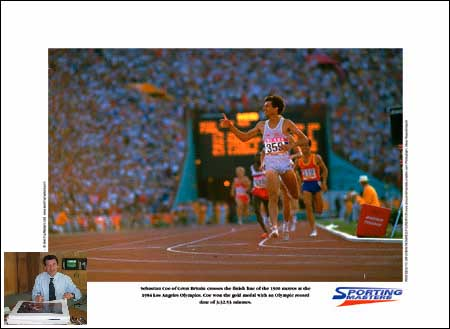 Sebastian Coe signed limited edition print