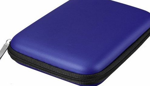 SecretRain Shock-proof Carry Case Cover for 2.5`` External Hard Disk Drive HDD Blue