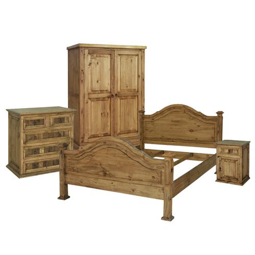 King Roma Mexican Rustic Pine Headboard