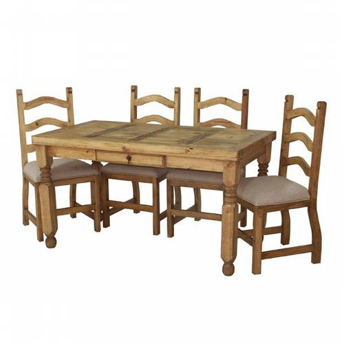 Segusino Mexican Dining Set (140cm Table 4 Chairs)