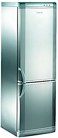 Fridge Freezer In Silver