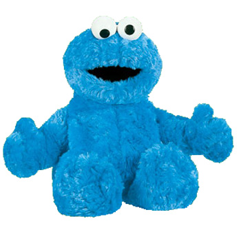 Sesame Street Soft Plush Toy Cookie Monster 12