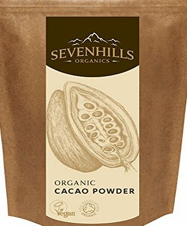 Sevenhills Organics Cacao / Cocoa Powder 500g, certified organic by the Soil Association