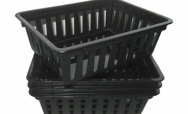 SHC Web Mini Plastic Storage Baskets PACK of 4 BLACK (Office/Craft/Hobby Containers) product image