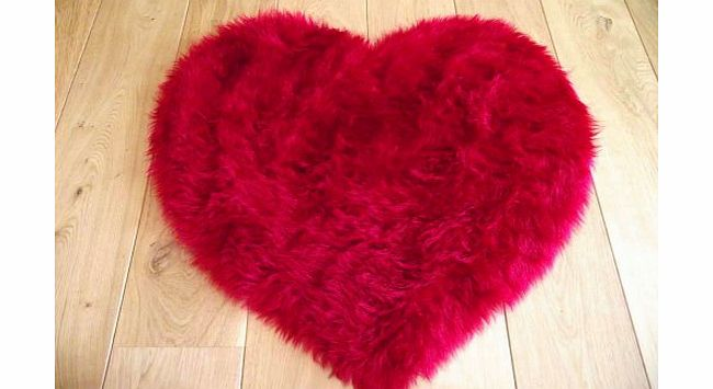 Sheepskin Ruby Red Faux Fur Sheepskin Style Rug (75cm x 75cm) product image