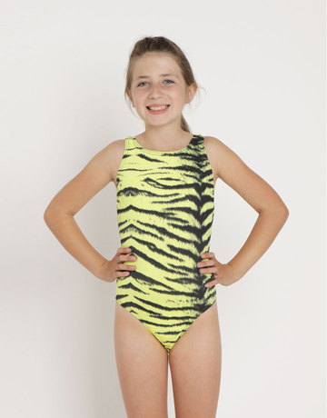 Girls Lemon Tiger Swimsuit