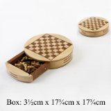 Shop of Legends Wooden Games Set - Round Magnetic Chess with Drawer product image