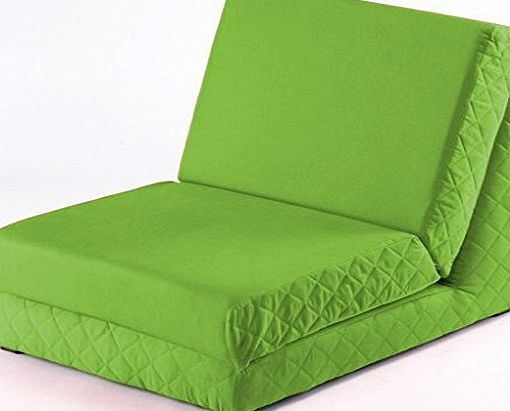 Shopisfy Pull Out Fixed Base Foam Z Bed Futon Guest Day Bed Mattress - Chair, Lime Green