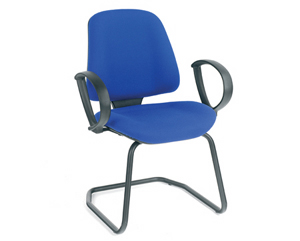 visitor low back chair(fixed arms)