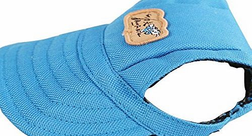 Sijueam (Medium, Blue) Hot Party Hats Baseball Hat Canvas Cap with ear holes for Puppies Small Dogs Chihuahua poodles Beagles/Boston Yorshire Terrier/Shih Tzu/French Bulldog/Miniature Schnauzer/Pug
