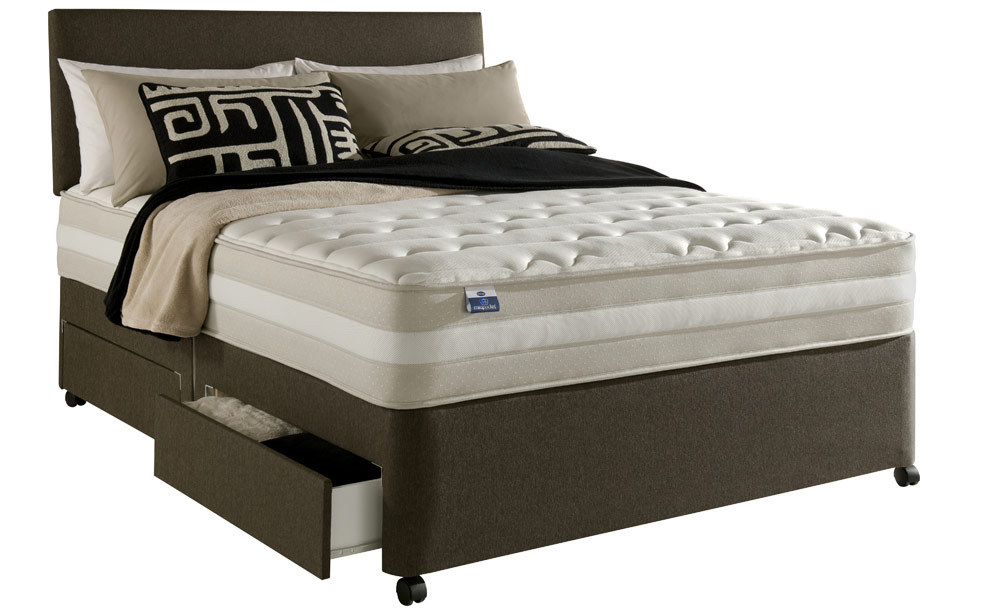 Silentnight mira pocket memory divan bed for Silentnight divan