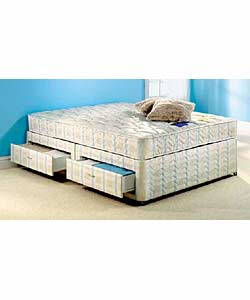 Silentnight beds for King size divan bed with 4 drawers