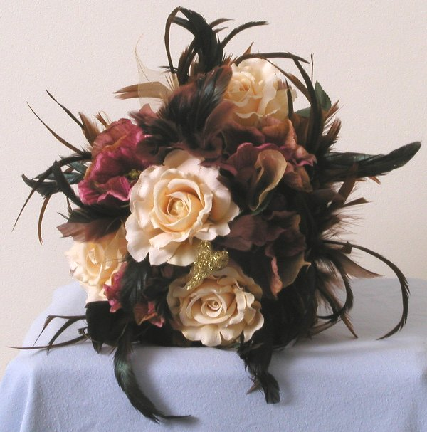 Beautiful Silk Wedding Bouquet Esension