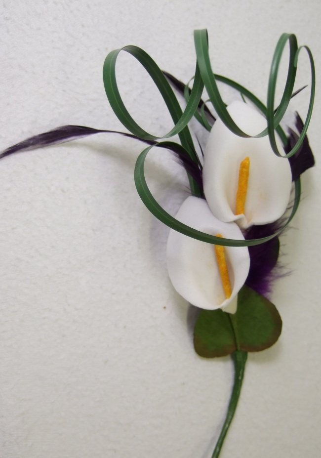 calla lily and tiger lily bouquet. silk calla lily bouquet
