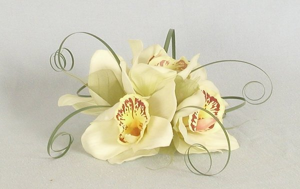 Silk Bouquets Orchid Cake Topper Wedding Flower