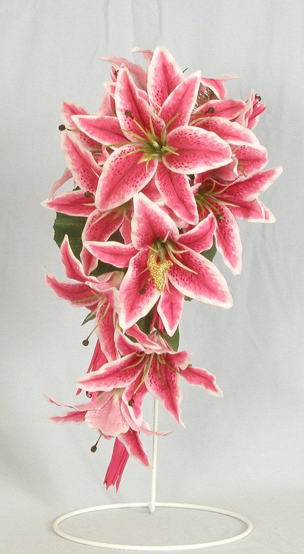 stargazer lily wedding. Silk Bouquets Stargazer Lilly