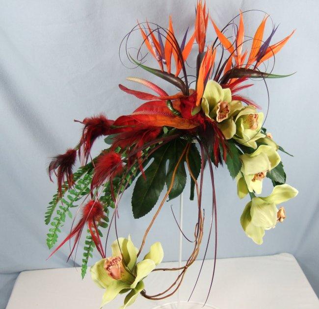 Shop Silk Bird Of Paradise And Anthurium Tropical: Silk Bouquets Tropical Bouquet Wedding Flower