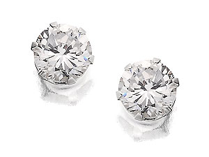 4mm Round Cubic Zirconia Earrings 060484