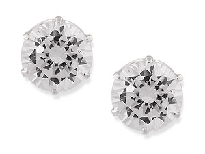 and Round Cubic Zirconia Earrings 060491