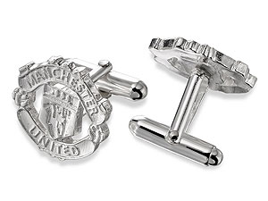 silver Manchester United Crest Swivel Cufflinks product image