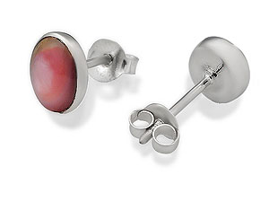 silver Mother-of-Pearl Earrings 060499