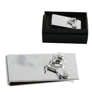 SILVER Plated Scooter Money Clip