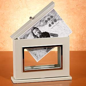 Double sided rotating spinner glass photo frame Fashion Style - Los Angeles Times