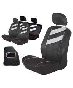Stylish seat covers in a smooth comfortable velour.2 front seat covers.2 piece rear seat cover and 4 - CLICK FOR MORE INFORMATION